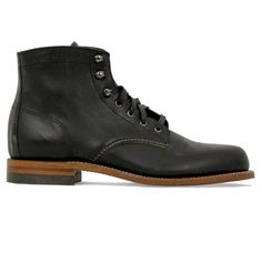 4cdb10bb663b 1000 Mile Men s Original Black Leather Boots