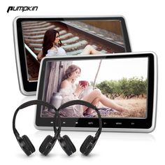 235.99$  Know more - 2PCS/LOT Pumpkin 10.1 Inch Digital Screen Car DVD Player Headrest Car Monitor Detachable Touch Button With HDMI Port + Headphone   #aliexpresschina
