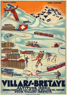 Billedresultat for vintage travel posters 1940 Ski Vintage, Vintage Ski Posters, Travel Illustration, Retro Illustration, Evian Les Bains, Fürstentum Liechtenstein, Stations De Ski, Tourism Poster, Travel Ads