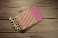 Le Ibiza Fouta Hot Pink with Gold by FineFoutas on Etsy