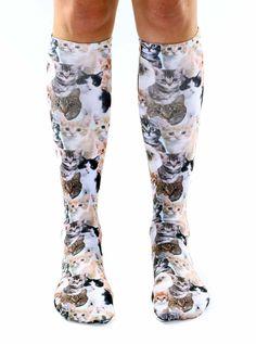 Kitty Knee High Socks, for my Aunt Debbie, lol