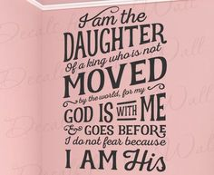 Your wall decal will arrive in three layers (see picture on right). The paper backing is removed, leaving the vinyl attached to the transfer tape. The transfer tape is then used to apply the decal to the wall. Vinyl Wall Quotes, Vinyl Wall Decals, Wall Stickers, Vinyl Sayings, Wall Sayings, Daughters Of The King, Daughter Of God, Bible Quotes, Art Quotes