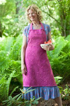 Garden Jacquard Adult Apron | April's Attic Sale, Linens & Kitchen Attic :Beautiful Designs by April Cornell
