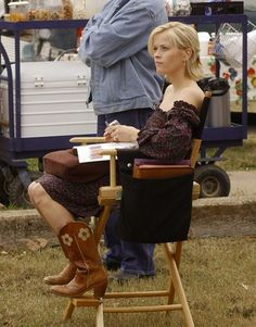 "Reese Witherspoon's outfit from ""Sweet Home Alabama"". Every time I watch that movie I want her outfit!"