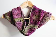 Neck Warmer Cowl Crochet Granny Square in Mauve Purple | Etsy Crochet Neck Warmer, Etsy Crafts, Crochet Granny, Unique Colors, Color Patterns, Arm Warmers, Mauve, Mittens, Cowl