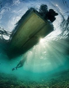 Under the boat