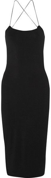 T by Alexander Wang - Cutout Stretch-modal Jersey Dress - Black