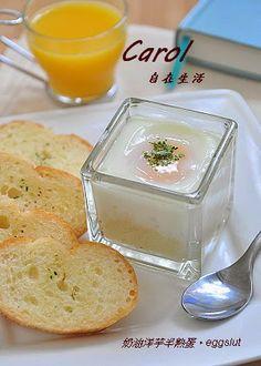 Carol 自在生活 : 奶油洋芋半熟蛋。eggslut
