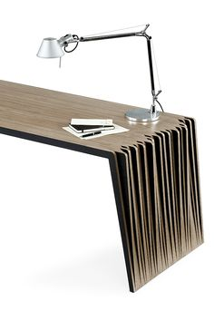Mesa Field by Esrawe Studio_pM 1 Smart Furniture, Design Furniture, Wooden Furniture, Table Furniture, Deco Design, Wood Design, Living Haus, Console Design, Plywood Table