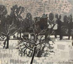 Jean Brusselmans (Belg. 1884-1953) Jardin sous la neige, Dilbeek, 1942, huile sur toile, 70,5 x 80,5 cm