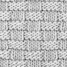 iKnitts: Punto Canasto / Diccionario de puntos para tejer a dos agujas