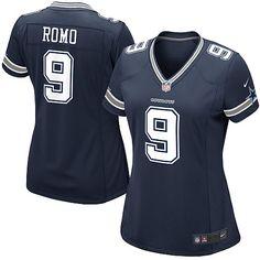 Women's Nike Dallas Cowboys #9 Tony Romo Limited Navy Blue Team Color NFL Jersey Sale