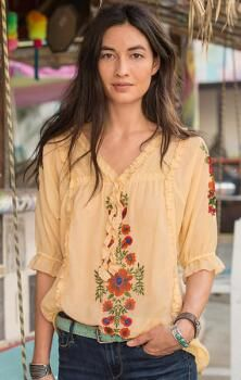 Grace your look with the sweet romance of our feminine cotton/viscose tunic.