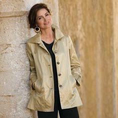 TravelSmith.com -  Women's Champagne Raincoat