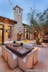 Image result for casas rusticas con patios internos