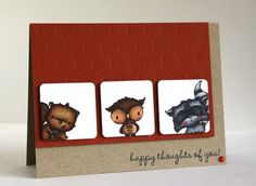 Thinking of you card by Alice Wertz.  Stacey Yacula Studio stamps from Purple Onion Designs.