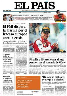 Los Titulares y Portadas de Noticias Destacadas Españolas del 15 de Abril de 2013 del Diario El País ¿Que le parecio esta Portada de este Diario Español?