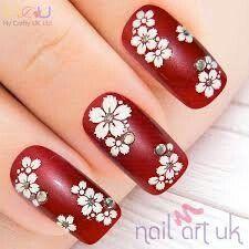 20 latest rhinestone bridal nail art designs: let's get dressed Pretty Nail Designs, Toe Nail Designs, Fall Nail Designs, Red Nails, Hair And Nails, Bridal Nail Art, Nail Design Video, Nail Art Supplies, Nail Art Rhinestones