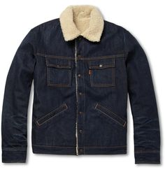 Levi's Vintage Clothing Slim-Fit Denim and Faux Shearling Jacket | MR PORTER
