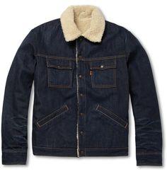 Levi's Vintage ClothingSlim-Fit Denim and Faux Shearling Jacket|MR PORTER