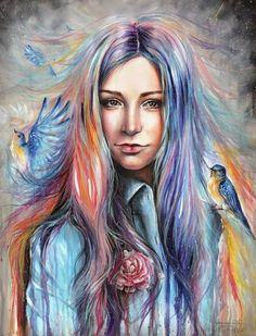 Интересные, кое-где романтичные рисунки молодой художницы Тани Шацевой. Радует то, что в её творчестве работает фантазия. Как известно, большинство начинающих художников пишут то, что видят, а то, что находится между строк уходит от их внимания. У Тани же с этим явно нет никаких проблем. Это красочный арт, в который вложена душа. Приятно посмотреть и позавидовать, что кто-то видит мир таким ярким и прекрасным.