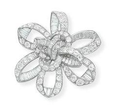A STYLISH DIAMOND BROOCH, BY JOHN RUBEL - Christie's