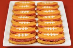 Cute Food For Kids?: 26 Football Shaped Food Ideas #footballparty
