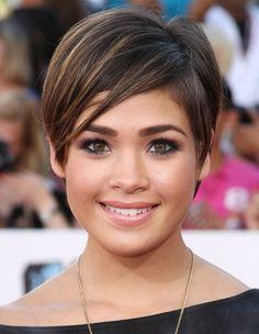 short hairstyles 2013   Short Razor Cut Hairstyles 2013: Short Straight Haircuts