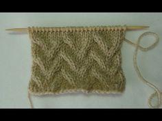 Aprende a tejer esta trenza fantasia 2 en dos agujas - YouTube