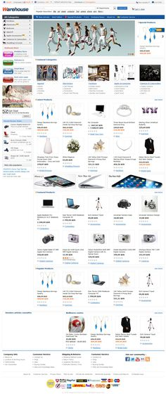 Magento Focalprice.com template for Warehouse website, with left navigation, show latest, popular, special, recent reviewed etc products in homepage, it is must have template for big warehouse e-commerce site