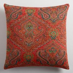 Crafted of luxurious cotton velvet, our spicy orange throw pillow is a classic accent for any room. Combine this exclusive accent with our other velvet pillows in an array of chic colors to refresh your decor instantly.