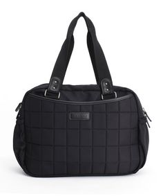 Take a look at this Black Leslie Tote Diaper Bag by stellakim on #zulily today!