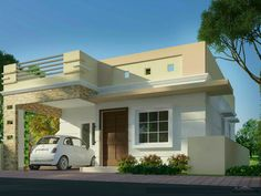 Modern Bungalow House Design, House Front Design, Small House Design, Four Bedroom House Plans, Indian House Plans, Independent House, House Construction Plan, Simple House Plans, House Elevation