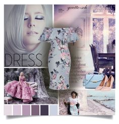 """""""Off-Shoulder Dress"""" by yvette-sch ❤ liked on Polyvore featuring Chanel and Topshop"""