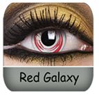 Red Galaxy Colored contact lenses :) $33.99 a pair