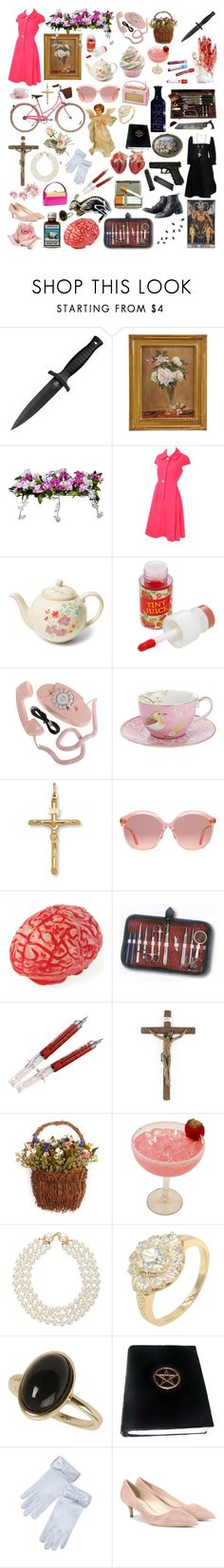 """preacher's wife"" by clownbunny ❤ liked on Polyvore featuring H.R., Tokyo Rose, Improvements, Geoffrey Beene, Liberty, Skinfood, PiP Studio, Gucci, Zone and Lab"