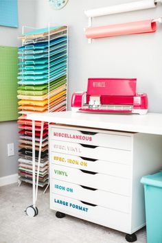 Excited to finally share my craft room reveal It s chock full of craft room organization ideas to hide the clutter plus all sorts of other modern craft room inspiration cricut cricutcraftroom craftroom
