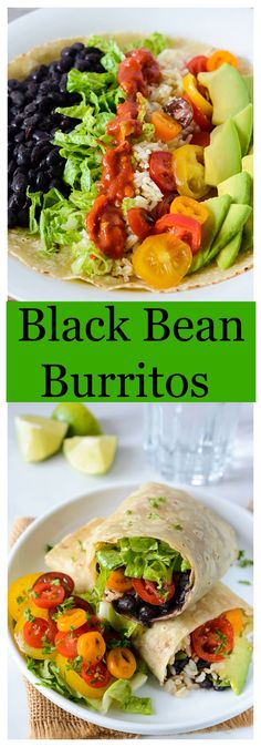 Delicious Black Bean Burritos with a Gluten-Free wrap and it is also vegan.