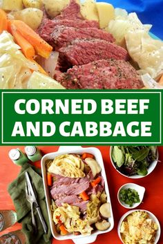 Corned Beef and Cabbage - The ingredients and how to make it please visit the website Eay Dinner Recipes, Winter Dinner Recipes, Fast Recipes, Recipes For Beginners, Dinner On A Budget, Dinner Ideas, Corn Beef And Cabbage, Corned Beef, Lunches And Dinners