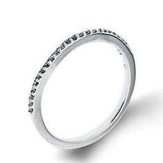 Arthurs Collection Diamond Prong Set White Gold Womens Wedding bands RAD-16364 #ArthursJewelers