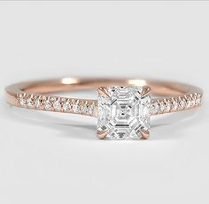 A classically beautiful engagement ring.