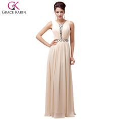 Price tracker and history of Grace Karin Evening Dresses 2017 Chiffon  Vestidos Bead Long Elegant Formal Gowns Fashion Engagement Dinner Wedding  Party ... 2ac40c1c6808