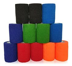 "Adhesive Elastic Bandages for Superior Support 3""X5yd 12 Pack Cohesive Wrap Best Performer Guaranteed! Self Adhesive Ankle, Joint and Injury Support for Sports and Home. Wrap Up With Confidence! HomeGrownPro http://www.amazon.com/dp/B014C77J0A/ref=cm_sw_r_pi_dp_Ptapwb0Z1CJQS"
