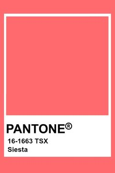Pantone Siesta Pantone Swatches, Color Swatches, Pantone Colour Palettes, Pantone Color, Color Box, Colour Board, Pantone Orange, Pastel Red, Pink
