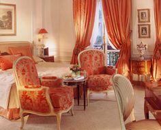 Parisian hotel room