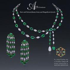 Please visit us at Doha Jewellery and Watches Exhibition, 20-25 February at @alfardanjewelry pavilion.  #artcreationsjewelry #emerald #emeraldanddiamond #hautejoaillerie #magnificentjewels #luxury #djwe #djwe2017 #champagnegem #the_diamonds_girl #doha #qatar #visitqatar #bahrain #dubai #uae #ksa #luxuryjewelleryevents