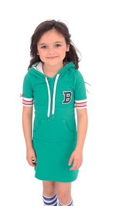 Dress Hood Green Br@nd for girls summer 2016 www.brandforgirls.nl