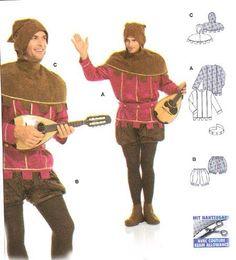 Image result for mens medieval costume pattern
