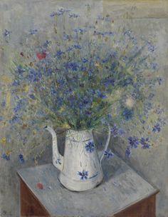 Mikhail Larionov (Russian, 1881-1964) - Still life with Cornflowers