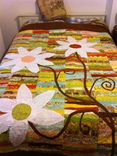 Daisy Flower Quilt. $640.00, via Etsy.